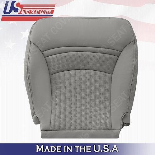 1997-2004 Chevorlet Corvette Driver Bottom Leather Seat Cover Gray