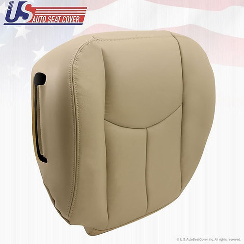 2003-2006 Tahoe Suburban Yukon Passenger Bottom Leather Seat Cover Light Tan
