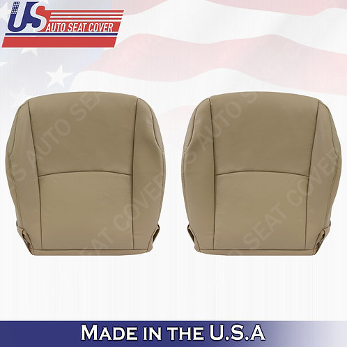 Fits 2010-2014 Toyota 4Runner Driver Passenger Bottom Leather seat Cover Tan
