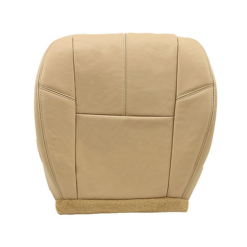 2007 to 2014 Chevy Tahoe Suburban Silverado Driver Bottom Leather Seat Cover Tan