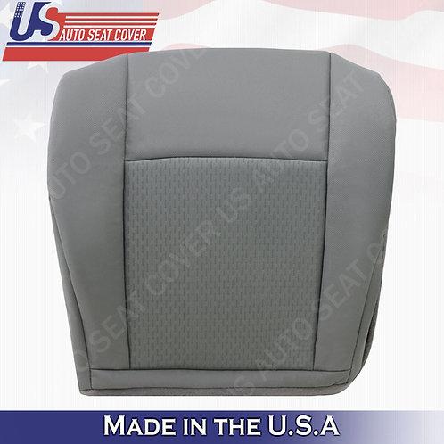 2009-2019 Ford E150 E250 E350 E450 E550 Van Driver Bottom Cloth Seat Cover Gray