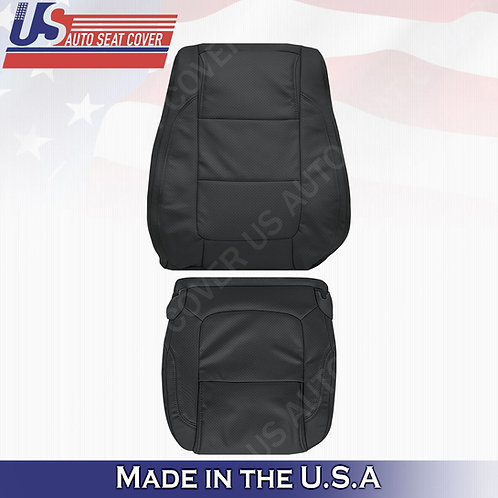 2011 - 2015 Ford Explorer PASSENGER Bottom- Top leather Perf. Cover Black
