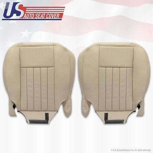 2003 2004 Lincoln Navigator Front Bottom Perforated leather Cover Light Tan