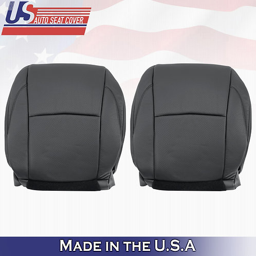 FITS 2007-2012 Lexus ES350 Perforated Leather BOTTOMS Seat Cover BLACK