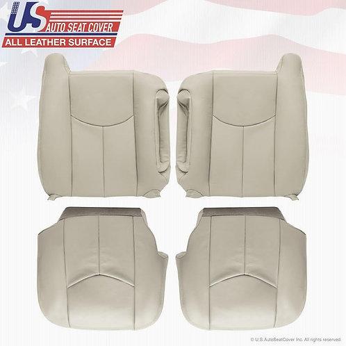 2003-2006 Chevy Tahoe Suburban GMC Yukon Upholstery leather seat cover ShaleTan