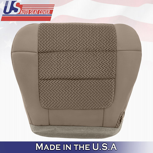 2001-2003 Ford F150 XLT Front DRIVER Bottom Cloth Seat Cover Med Parchment Tan