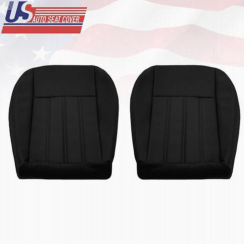 For 2005-2010 Chrysler 200 300 Driver & Passenger Bottom Seat Cover Black