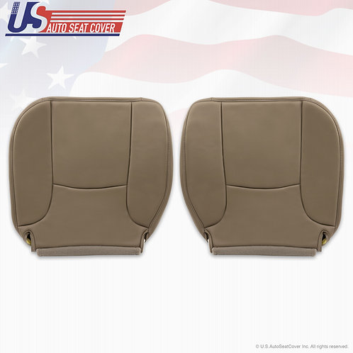 2002-2005 Dodge Ram Driver & Passenger Bottom  Synth. leather seat cover in Tan