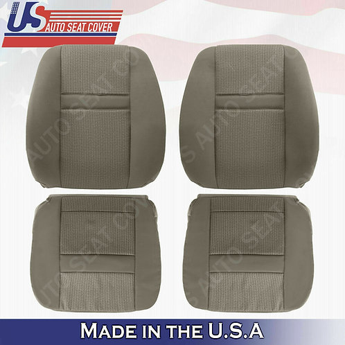 2006- 2008 Dodge Ram 2500 Front row set uppers/lowers Tan cloth seat cover
