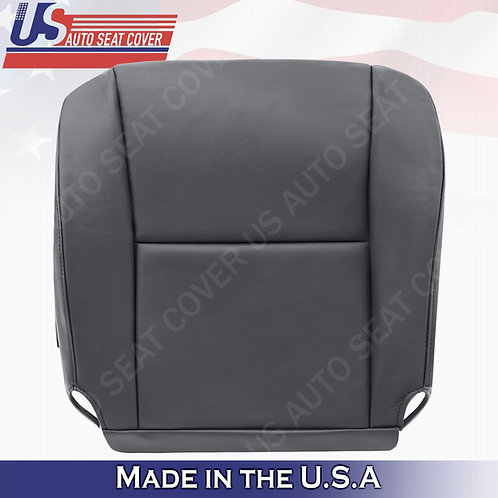 2006 Toyota Tundra, Sequoia Passenger Side Bottom Leather Seat Cover Dk Charcoal