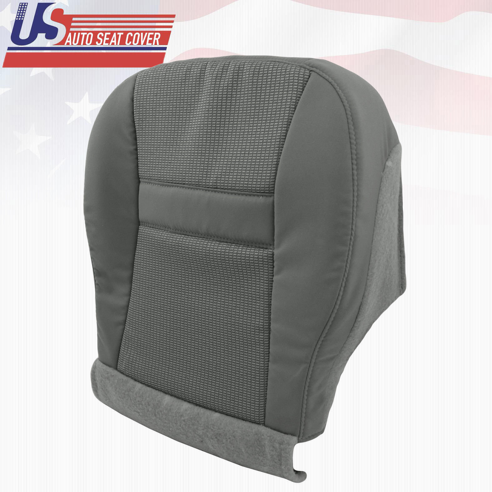 2007 Dodge Ram Front Passenger Side Bottom Fabric Seat Replacement Cover In Gray