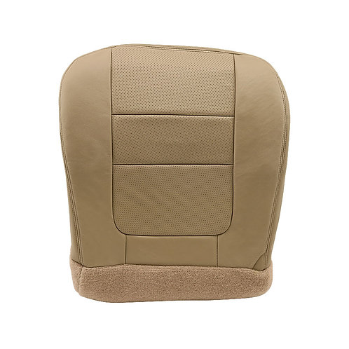 2001 Ford F250 F350 Lariat Driver Bottom Perf Leather Seat Cover Parchment TAN