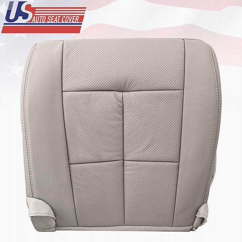 2007 to 2013 Lincoln Navigator Passenger Bottom Leather Seat Cover Gray