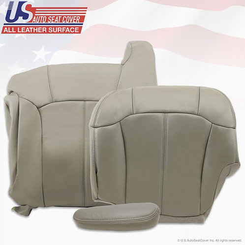 1999-2002 Chevy Tahoe Suburban Pasenger Top Botom Armres leather seat cover gray