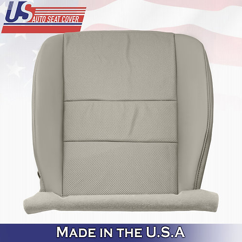 Fits 2009-2014 Acura TSX Driver Bottom Perforated Leather Seat Cover Gray