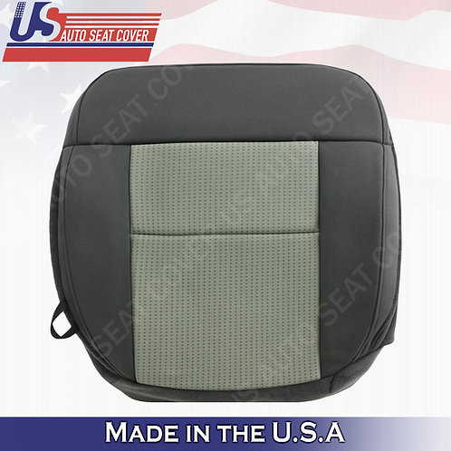 2004-2008 Ford F-150 Passenger Bottom Cloth Seat Cover in 2-tone Gray