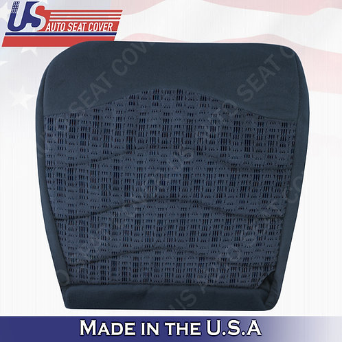 1999-2000 Ford F250 F350 F450 XLT Driver Bottom Cloth Seat Cover Blue