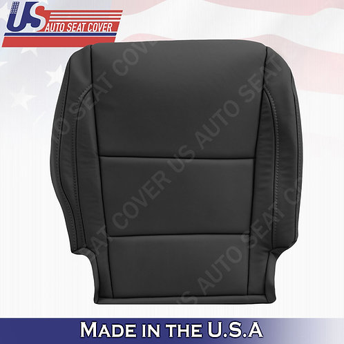 Fits 2014 - 2020 Acura MDX Passenger Bottom Leather Seat Cover Black