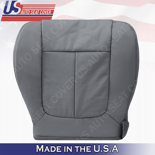 2011 - 2014 Ford F150 Lariat Driver Bottom leather Perforated seat cover Gray