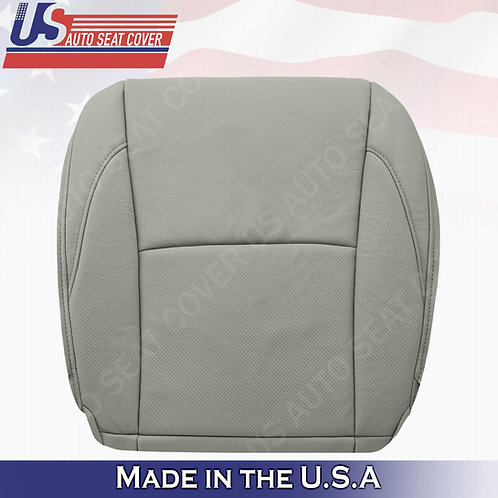 For 2007-2013 Lexus ES350 Driver Bottom Perforated Leather Seat Cover Gray