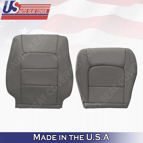 For 1998-2007 Lexus LX470 Passenger Bottom & Top Leather Cover GRAY