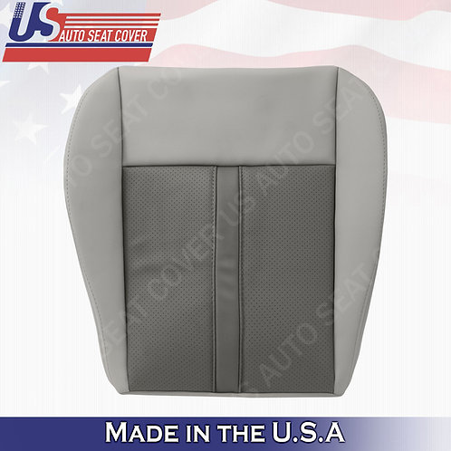2005-2007 Jeep Grand Cherokee Driver Bottom Leather cover 2-tone tan