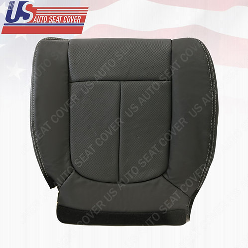 2009- 2014 Ford F150 Lariat Driver Bottom Black Perforated Leather Seat Cover