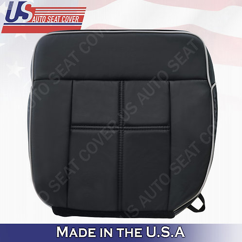 2006 2007 2008 Lincoln Mark LT Driver Bottom Leather Seat Cover in BLACK