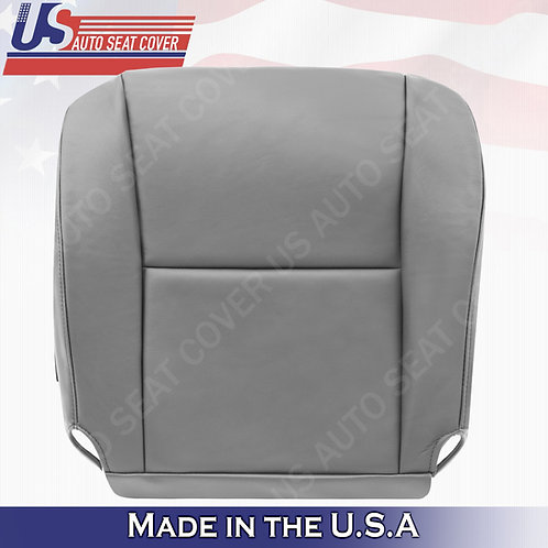 2005 2006 Toyota Tundra, Sequoia Passenger Side Bottom Leather Seat Cover Gray