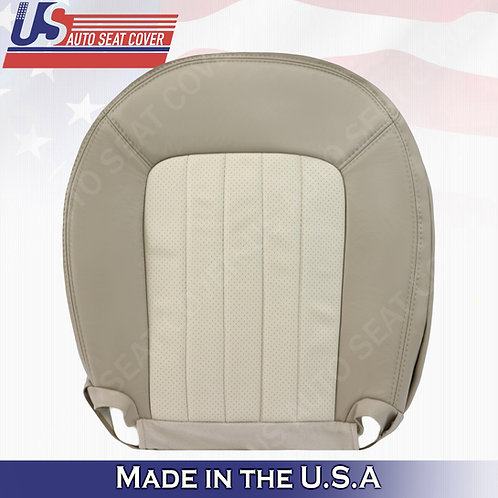 2002-2005 Mercury Mountaineer Driver Bottom Perforated Leather Cover 2-tone Tan