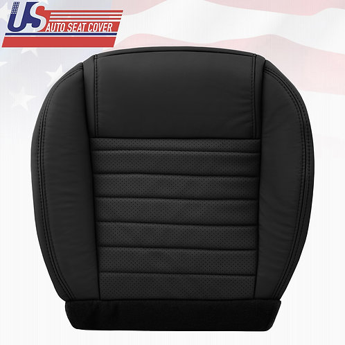 2005-2009 Ford Mustang Passenger Bottom Leather Seat Cover in Black (PERFORATED)
