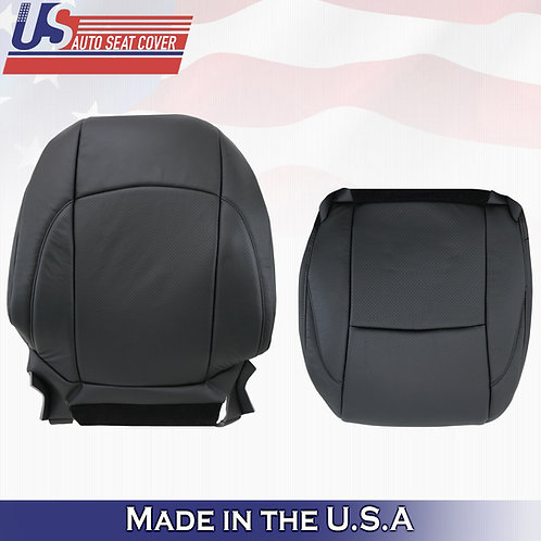 2007-2012 Lexus ES350 Perforated Leather TOP/BOTTOM Seat Cover BLACK