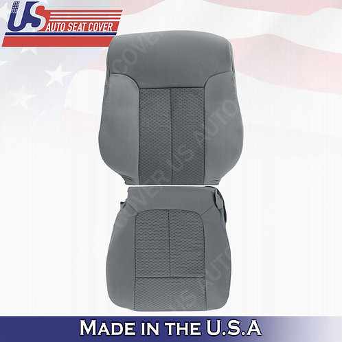 For 2011-2014 Ford F150 Passenger Top & Bottom Cloth Seat Cover Steel G