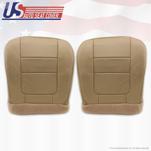 2001 Ford F250 F350 Lariat Bottoms Perforated Leather Seat Cover Tan