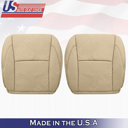 For 2007-2012 Lexus ES350 Driver Passenger Bottoms Perforated Leather Cover Tan