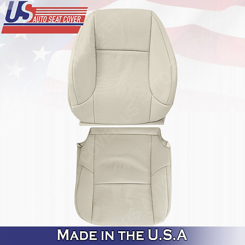 For 2010-2017 Lexus GX460 Driver Top/Bottom Perf. Leather Cover Light Tan