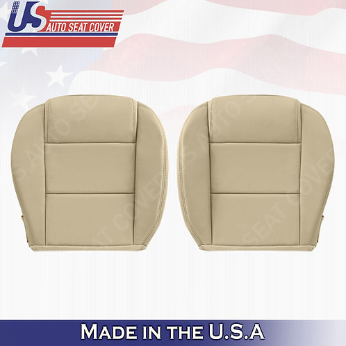 2005-2009 Ford Mustang V6 Driver & Passenger Bottom Leather Seat Cover in Tan