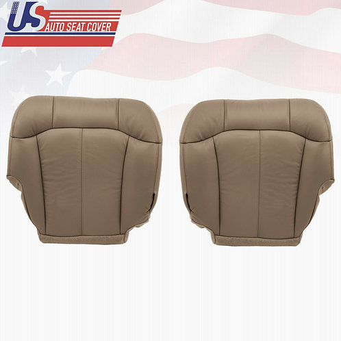 1999-2002 Chevy Silverado 1500 1500HD Driver Passenger Bottom Leather Cover Tan