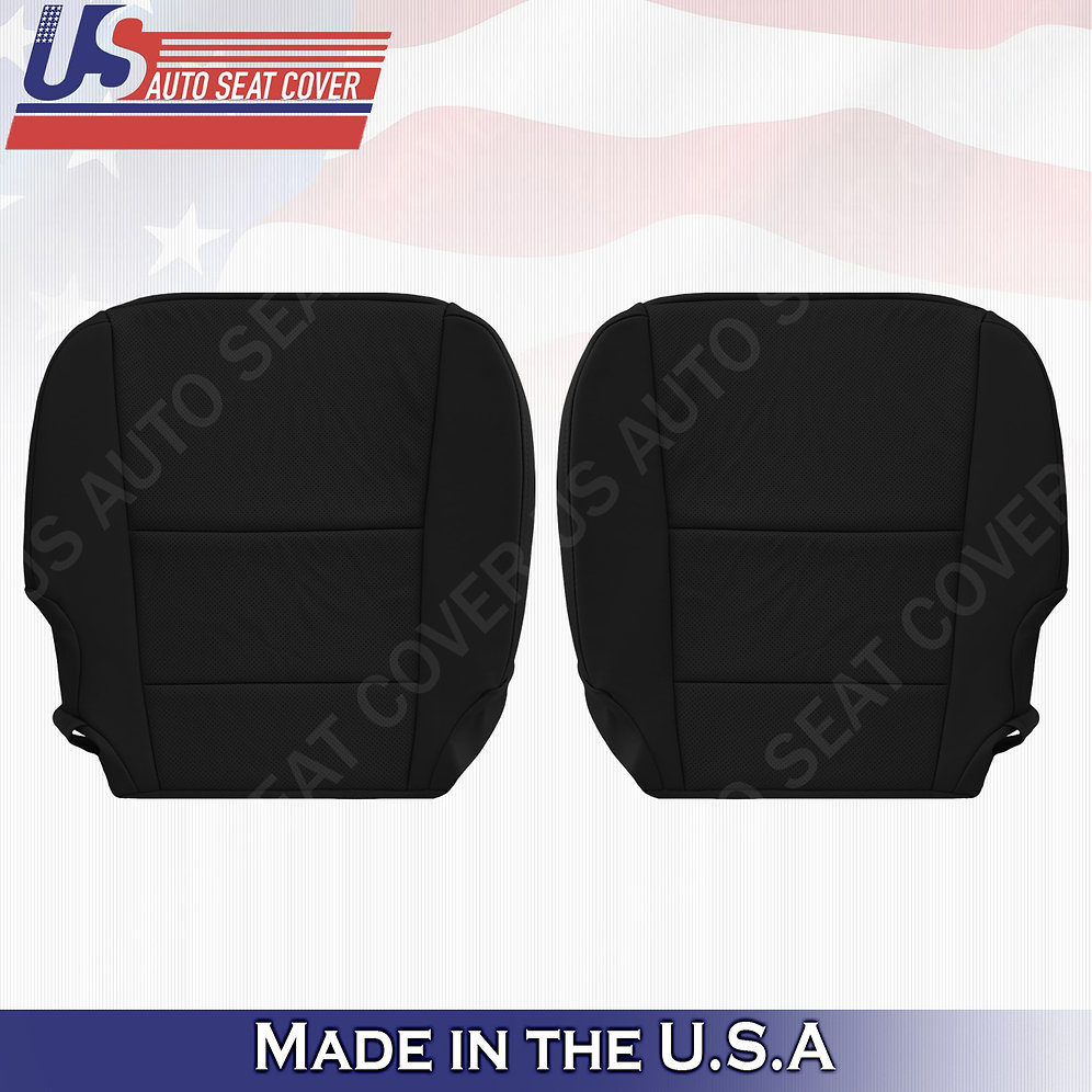 Driver/Passenger Perforated Bottom Leather Black Covers