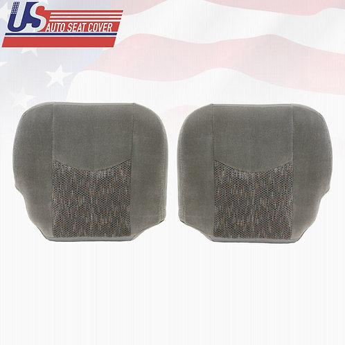 2003-2006 Chevy Silverado 1500 Driver & Passenger Bottom Cloth Seat Cover Gray