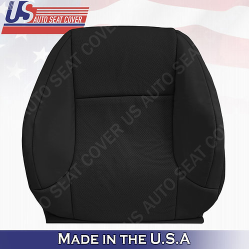 Fits 2010-2017 Lexus GX460 470 Passenger Top Perforated Leather Seat Cover Black