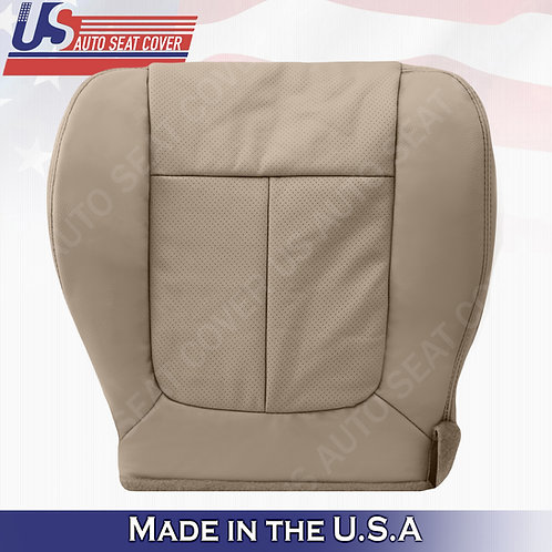 2011-2014 Ford F150 Lariat Driver Bottom leather Perforated seat cover Adobe Tan