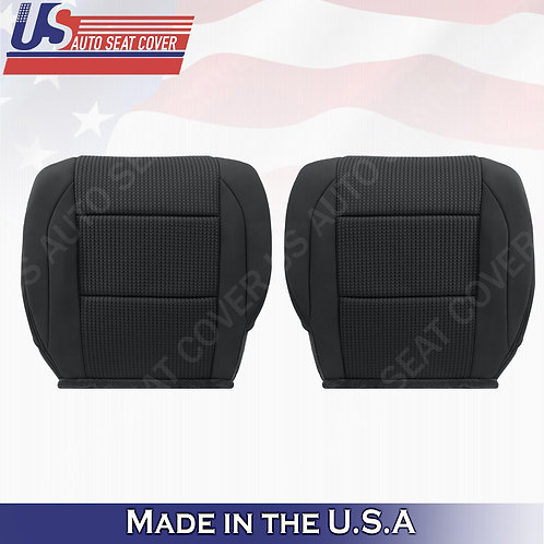 2005-2015 Nissan Armada Driver & Passenger bottom Cloth in black seat cover