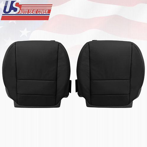 2007-2012 Acura MDX Driver/Passenger Bottom Replacement Leather Seat Cover Blac