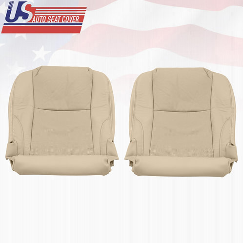 2006-2013 Lexus IS250 Driver/Passenger Bottom Seat Cover Perforated Leather Tan