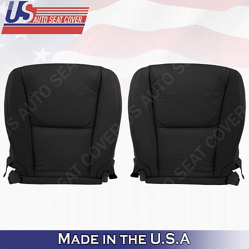 For 2006-2011 Lexus GS350 Front Bottoms Perforated Leather Seat Cover Black