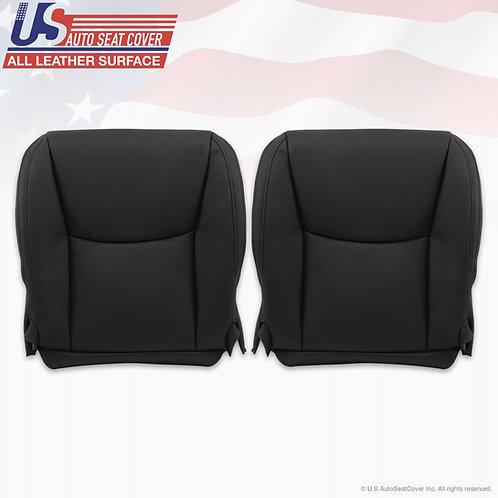 Driver & Passenger Bottom Leather Seat Cover Black For 2003-2009 Lexus GX470