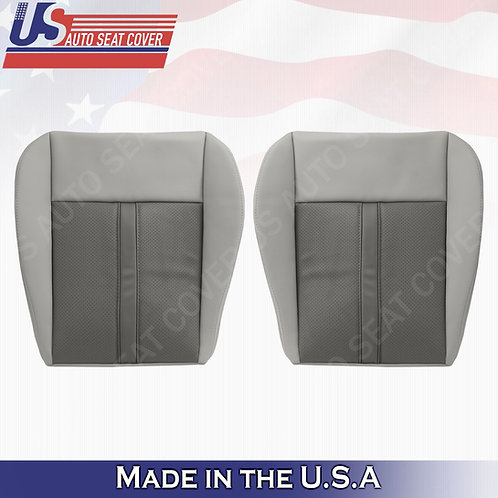 2005-2007 Jeep Grand Cherokee Driver & Passenger Bottom Leather cover 2-tone tan