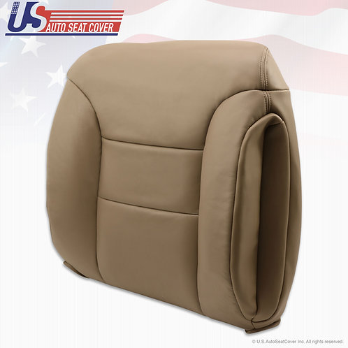 1995 to1999 Chevy K1500 2500 Passenger Upper Leather Seat Cover med. neutral tan