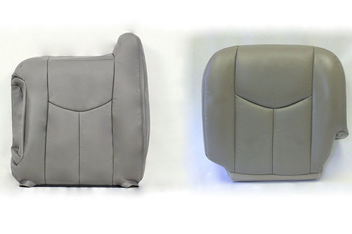 2003 -2006 Chevy Silverado Sierra top/bottom Leather Seat cover gray